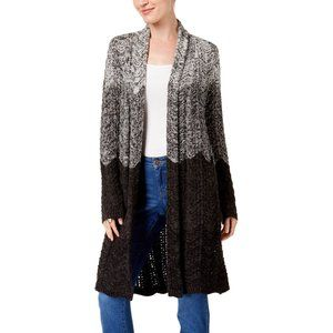 Style & Co Ombre Duster Cardigan Grey Medium